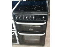 g123 black cannon 60cm double oven ceramic hob electric cooker comes with warranty can be delivered