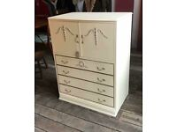 Shabby Chic Vintage Cupboard Chest