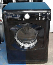 n026 black hotpoint 7.5kg set & forget vented dryer comes with warranty can be delivered