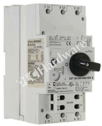 Allen Bradley 140-CMN-9000 /D Motor Protection Circuit Breaker 63.0 - 90.0A Read