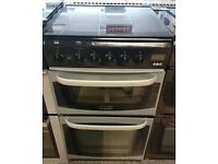 h436 black & silver cannon oakley 50cm gas cooker comes with warranty can be delivered or collected