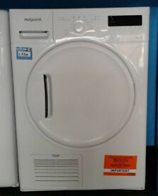 j284 white hotpoint 8kg B rated condenser dryer new with manufacturers warranty can be delivered