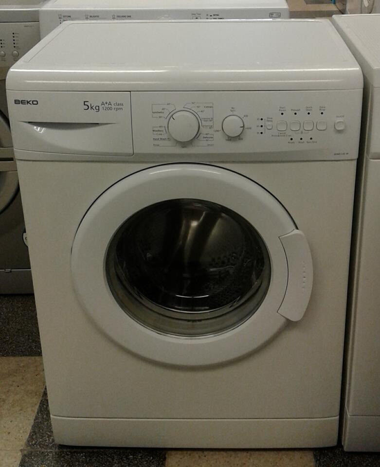H117 white beko 5kg 1200spin A+A rated washing machine comes with warranty can be delivered