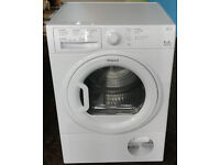 d226 white hotpoint 9kg b rated condenser dryer comes with warranty can be delivered or collected