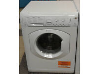 I130 white hotpoint 7kg 1200spin washer dryer comes with warranty can be delivered or collected