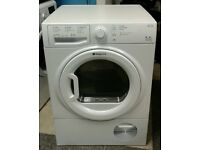 j244 white hotpoint 9kg B rated condenser dryer comes with warranty can be delivered or collected