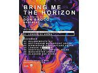Bring me the horizon x4 seating Glasgow 9.11.16