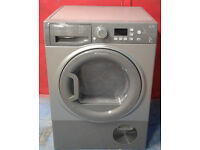 *312 graphite hotpoint 8kg b rated condenser dryer comes with warranty can be delivered or collected