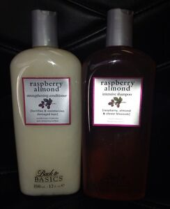 Back To Basics Raspberry Almond Shampoo and Conditioner Set 12oz each