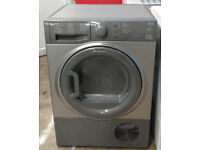 y562 graphite hotpoint 7kg condenser dryer comes with warranty can be delivered or collected