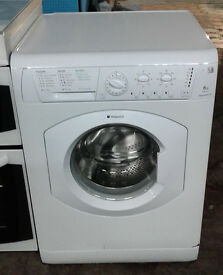 d190 white hotpoint 6kg 1200 spin washing machine comes with warranty can be delivered or collected
