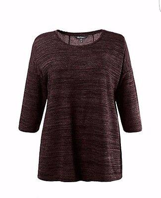 Pullover Teilungsnähte Oversized Ulla popken DAMEN Gr 46/48 Shirt mit Falte