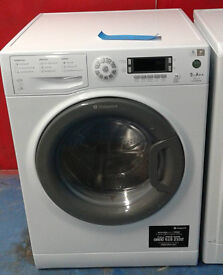 I574 white hotpoint 9kg 1400spin A++ rated washing machine comes with warranty can be delivered
