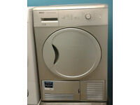 a401 silver beko 7kg B rated condenser dryer comes with warranty can be delivered or collected