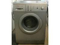 a009 silver bosch 6kg 1200spin washing machine comes with warranty can be delivered or collected