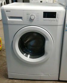 A236 white beko 7kg 1300spin A++ rated washing machine comes with warranty can be delivered