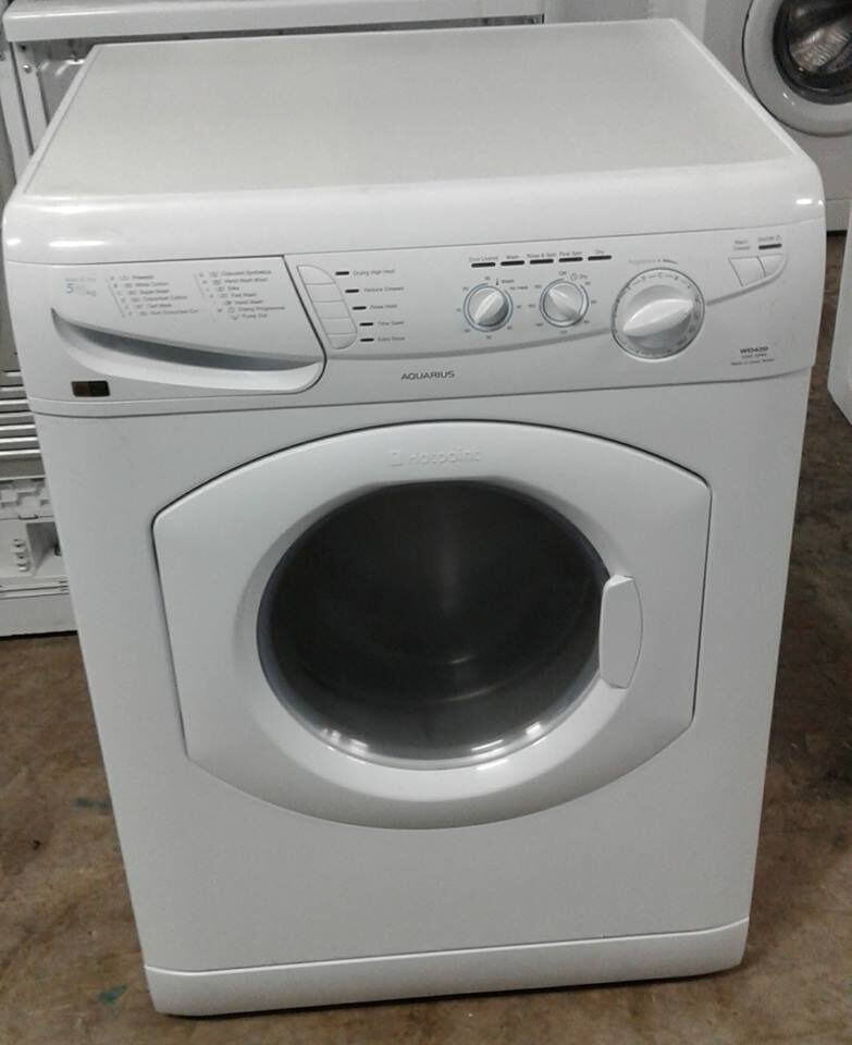 AA519 white hotpoint 5kg&5kg 1200spin washer dryer comes with warranty can be delivered or collected