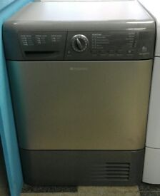 a048 graphite hotpoint 8kg condenser dryer comes with warranty can be delivered or collected
