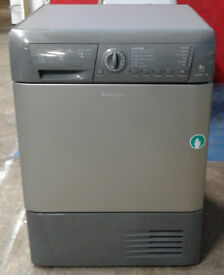 n202 graphite hotpoint 8kg condenser dryer comes with warranty can be delivered or collected