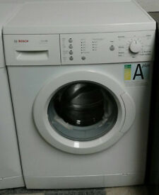 a650 white bosch 6kg 1400spin A+ rated washing machine comes with warranty can be delivered