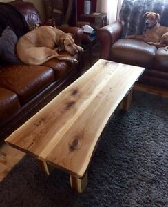 One of a kind live edge coffee table