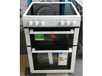 f197 white newworld 60cm double oven electric cooker comes with warranty can be delivered