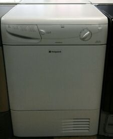 b049 white hotpoint 7kg condenser dryer comes with warranty can be delivered or collected