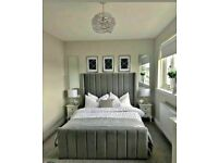 New Best Quality Royal wing bed frame in double/king size with OPtional mattress Cash on delivery**