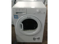 a332 white hotpoint 7.5kg condenser dryer comes with warranty can be delivered or collected