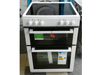 a197 white new world 60cm double oven ceramic hob electric cooker new with manufacturers warranty