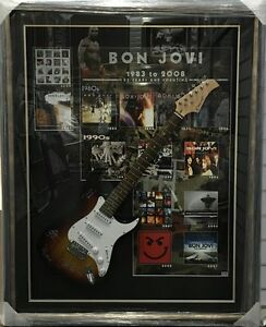 BON JOVI HAND SIGNED FRAMED GUITAR LEGEND ROCK POP MUSIC