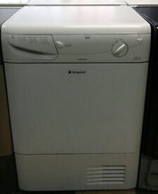 a049 white hotpoint 7kg condenser dryer comes with warranty can be delivered or collected