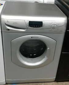 a685 silver hotpoint 7kg 1600spin washing machine comes with warranty can be delivered or collected