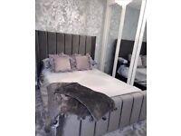 🐩🐩 Soft Plush Grey Arizona Bedframe on Reduced price 🐩🐩
