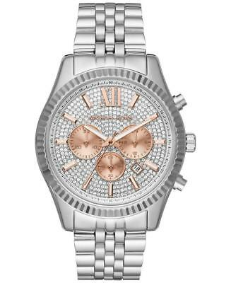 MICHAEL KORS MK8515 Lexington Crystal Pave Dial Ladies Chronograph Wrist Watch