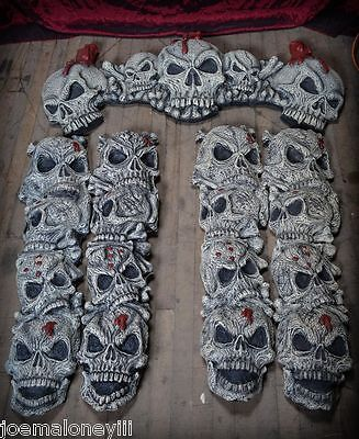 HALLOWEEN PROP HAUNTED HOUSE SKULL DOORWAY ENTRY FOYER TRIM FACADE