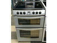 a781 silver new world 60cm double oven ceramic hob electric cooker comes with warranty