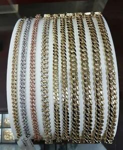 Miami cuban link Solid 10 karat gold yellow gold white gold Rose Gold