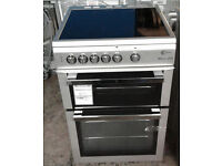 h103 silver flavel 60cm ceramic hob electric cooker graded 12 months warranty can be delivered