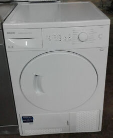 H818 white beko 8kg B rated condenser dryer comes with warranty can be delivered or collected