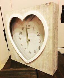 Wooden Heart Clock.. ♡