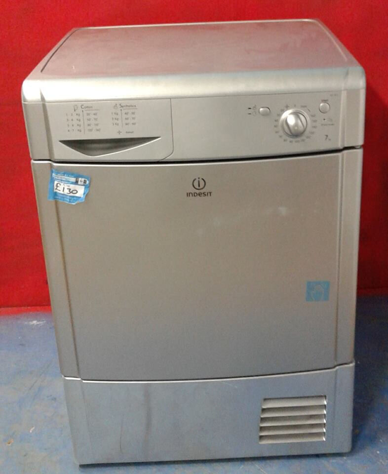 AA158 silver indesit 7kg condenser dryer comes with warranty can be delivered or collected