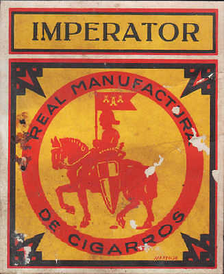 Werbung 1925, Zigarren-Kisten-Verpackung Aufleger: IMPERATOR