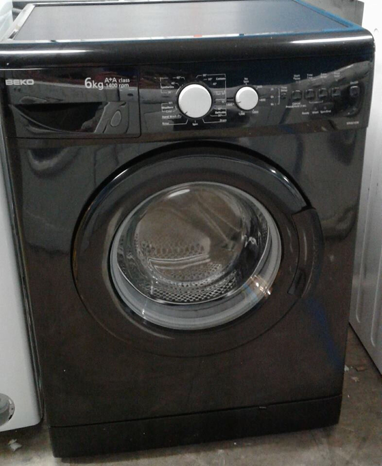AA558 black beko 6kg 1400spin A+A rated washing machine comes with warranty can be delivered