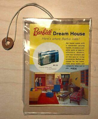 VINTAGE ORIGINAL CARDBOARD BARBIE DREAM HOUSE TAG