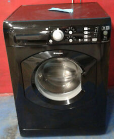 m428 black hotpoint 7kg 1400spin washing machine comes with warranty can be delivered or collected