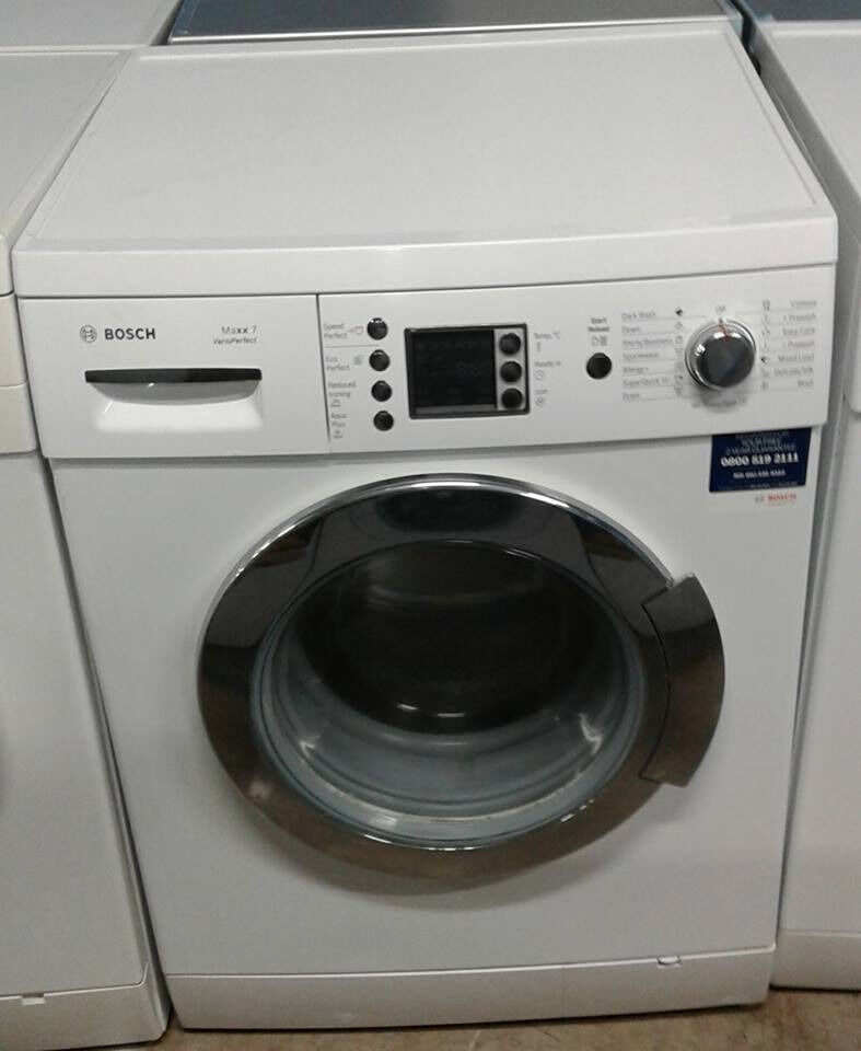AA529 white & chrome bosch 7kg 1400spin washing machine comes with warranty can be delivered