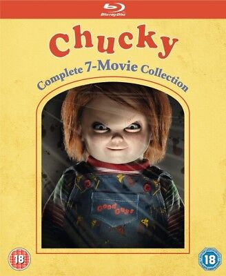 Child's Play Chucky 7 Movie Complete Collection Blu-ray! Free Next Day - Kid Halloween Movies 2017