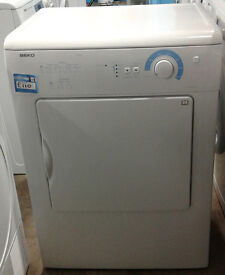 E403 white beko 6kg vented dryer comes with warranty can be delivered or collected