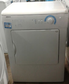 k403 white beko 6kg vented dryer comes with warranty can be delivered or collected